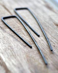 Black Shard Earrings