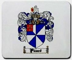 Picard Family Shield / Coat of Arms Mouse Pad $11.99