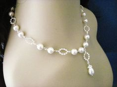 Wedding Jewelry Abigail Bridal Pearl and Crystal by AnnsCrafts, $35.00
