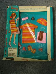 Vintage 1971 Boxed Palitoy Tressy Doll Outfit - Boutique Shopping - Complete 52+4.1
