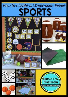 Are you planning a sports themed classroom or thematic unit? This blog post provides great decoration tips and ideas for the best sports theme yet! It has photos, ideas, supplies & printable classroom