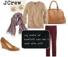 """""""JCrew winter outfit"""" by amdelia on Polyvore"""