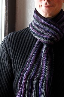 Crocheted scarf...