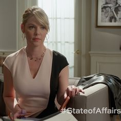 She's briefed the President before you've even had your morning coffee. #StateofAffairs