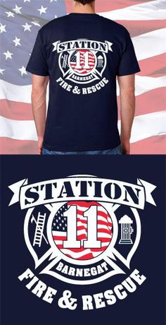 This Fire and EMS Back Design can be added to any screen-printed garment including fire department shirts, fire job shirts, and firefighter hoodies. Perfect for a customized firefighter uniform. Shop Fire Department Clothing for the latest fire department apparel, including fire dept t shirts.