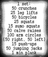 a work-out plan I will love, and hopefully will love me back LOL