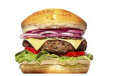 "MEDEME! CARNEIRO: Pão especial, hambúrguer de carneiro exclusivo (200g), ""zattar"", queijo mozzarella, alface, tomate e cebola roxa."