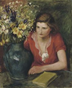 Woman with flowers, Henri Hayden. French (1883 - 1970)
