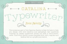 Ad: CATALINA FONT FAMILY by Kimmy Design on Earlier this year I visited a bakery in Newport Beach, CA and fell in love with the organic design and typography of the place.