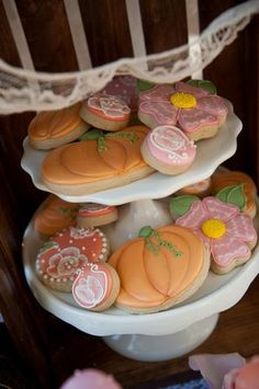 Hostess with the Mostess® - {Memories} A Vintage Pumpkin & Roses 1st Birthday