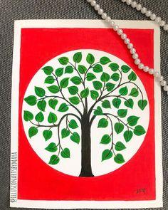 "Illusionartsbymaya on Instagram: ""Tree of life...#myway #treeoflife #red #treesofinstagram #treepainting #treepaintings #walldecor #indianwallart . #diycrafts #diydecor…"" Indian Wall Art, Easy Art For Kids, Simple Art, Tree Of Life, Wall Decor, Diy Crafts, Red, Instagram, Wall Hanging Decor"