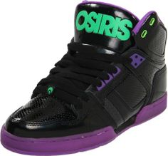 Osiris Women's NYC 83 SLM Skate Shoe,Black/Purple/Green,9 « Shoe Adds for your Closet (i have these)