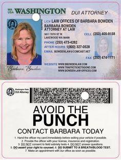 Business card I designed for Barbara Bowden