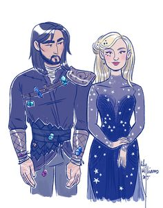 """Azriel and Mor from """"A Court of Mist and Fury"""" by... - Lily Williams"""
