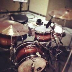 C & C drums in the studio.