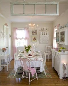 Pinterest shabby chic dining room | Shabby chic dining room | Shabby Chic Loves