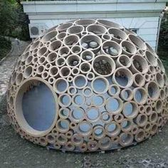 Cardboard igloo. You can make your own using lots of tubes in all sizes.