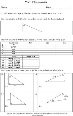 free high school math worksheet from teaching math high school algebra physics. Black Bedroom Furniture Sets. Home Design Ideas