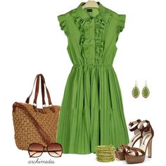 summer dress for work. her clothing is fine linen and purple | Big Fashion Show dresses for work