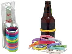 Beer Bands.  Mine, Personalities (could get sticky….), Drunk Words (loaded, blitzed, bombed, etc.). Fun!