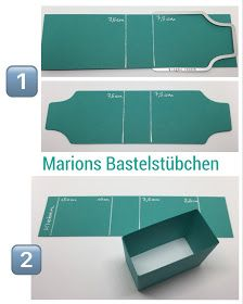 "Marions Bastelstübchen: Tutorial: Give-Away ""Kittelkreationen"" - BlogHop Team Stamping Art Paper Gift Box, Skills To Learn, Card Tutorials, Stamping Up, Mini Books, Xmas Cards, Scrapbook Cards, Bag Making, Diy Tutorial"