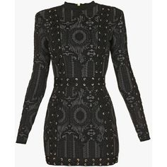 Dresses and Skirts | Women's Clothing | Balmain ($4,690) ❤ liked on Polyvore featuring dresses, vestidos, balmain, laced dress, lace up front dress, knit dress and lace up dress