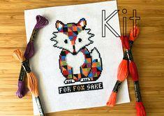 Cross stitch kit for fox sake counted cross stitch kit