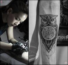 Owl Tattoo Camsy Valencia designs by camsy.deviantart.com on @DeviantArt