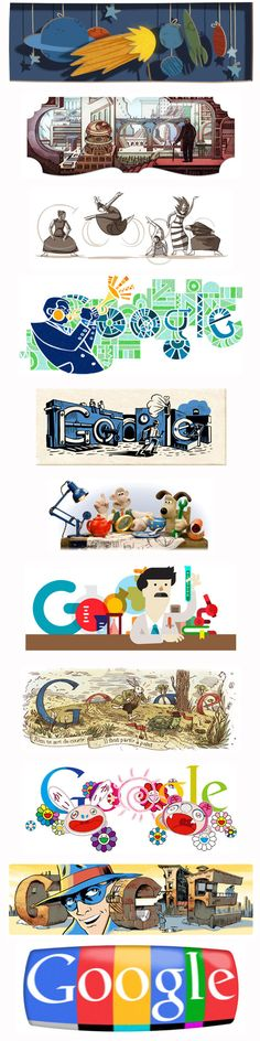 a collection of doodles Doodle 4 Google, Google Doodles, High School Art, Middle School Art, Doodle Inspiration, Collages, Images Google, Typography Logo, Colors