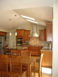 Recessed lighting vaulted ceiling picture kitchen dining room hello why dont we add sky lights in the kitchen vaulted ceiling lighting home decorating design forum gardenweb aloadofball Gallery