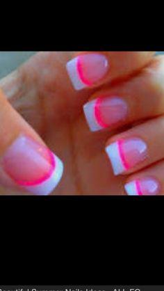 French nails with pink Baby Pink Nails Acrylic, Blue Toe Nails, Pale Pink Nails, Baby Blue Nails, Nail Designs 2014, Pretty Nail Designs, Love Nails, Pretty Nails, Fun Nails