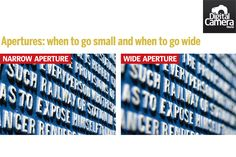 Apertures: when to go small and when to go wide