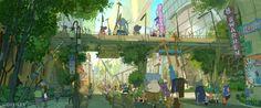 Concept Arts de Cory Loftis para o filme Zootopia