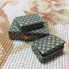 Box Collection Designer 1:12 Dollhouse Miniature
