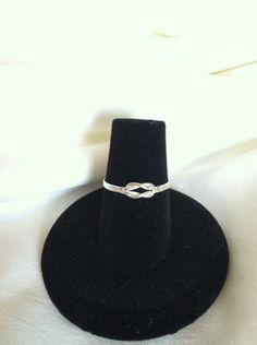 Sterling Silver Love Knot Ring - Valentine by CopperfoxGemsJewelry on Etsy https://www.etsy.com/listing/126616417/sterling-silver-love-knot-ring-valentine