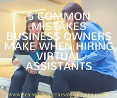 As I coach business owners on hiring VA's, I see the same mistakes made over and over again. They leave entrepreneurs wondering why they can't find anyone to help them, and even worse, prevent them from making the profits they could make if they had a partner in their success. Tracey Osborne #VirtualAssistant #OnlineBusinessManager