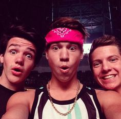 Aaron Carpenter, Taylor Caniff and Dillon Rupp, MagCon Boys