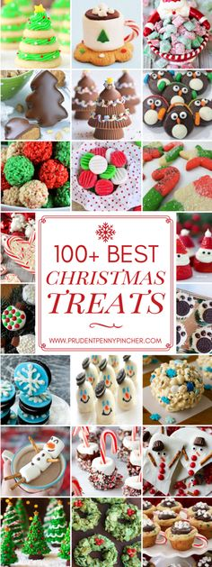 100 Best Christmas Treats Spread holiday cheer with these festive and delicious Christmas treats including Christmas cookies, fudge, candy, cupcakes, and much more! Easy Christmas Treats, Christmas Deserts, Christmas Cupcakes, Noel Christmas, Christmas Goodies, Holiday Desserts, Holiday Treats, Simple Christmas, Holiday Recipes
