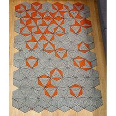 hexagonal modular handmade felt rug - Relish Design ($500-5000) - Svpply