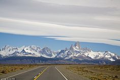 Ruta 40: Or National Route 40 in Argentina's Patagonia spans over 3,000 miles the length of Argentina, and goes through 20 national parks, but it's all about the view forward to Monte Fitz Roy here