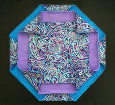 Honeycomb 3 level Hammock for Small Animals – Purple Paisley