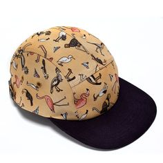 MOUPIA — MOUPIA Birds Beige Navy 5 Panel Hat http://digitalthreads.co