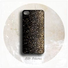 Love this Iphone 5 cover - gold and black - and it's not real glitter, it's just printed, which I actually prefer! Fancy