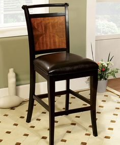 Look what I found on zulily Ravolie Duotone Counter Height Dining Chair