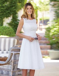 Broderie Day Dress