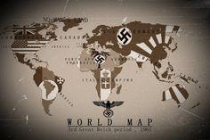Alternate History World Map 3rd Reich 1961 by KevinAuzan