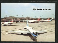 Interflug (DDR) - AK Berlin, Flughafen Schönefeld East Germany, Berlin Germany, De Havilland Comet, Cities In Europe, Berlin Wall, Life Pictures, Airplanes, Transportation, Aviation