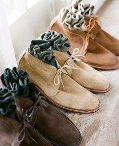 Alden unlined suede chukka boots.