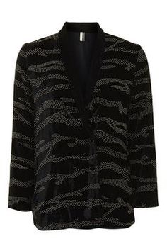 Tiger Stud Velvet Jacket