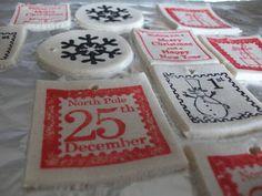 Adornos de navidad de pasta de sal